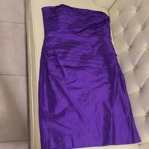 100% Silk Strapless Dress